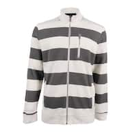 INC International Concepts Men's Striped Rider Jacket (Vintage White, XL) - vintage white - XL