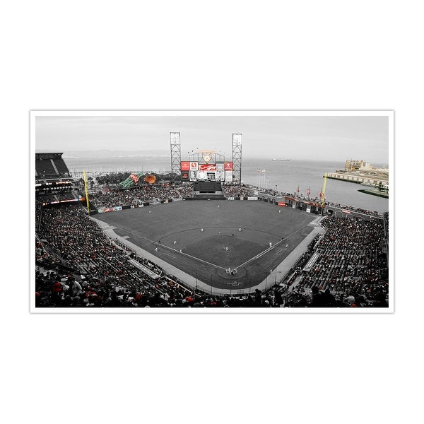 San Francisco Giants - AT&T Park Touch of Color Baseball Ballparks Matte Poster 24x14
