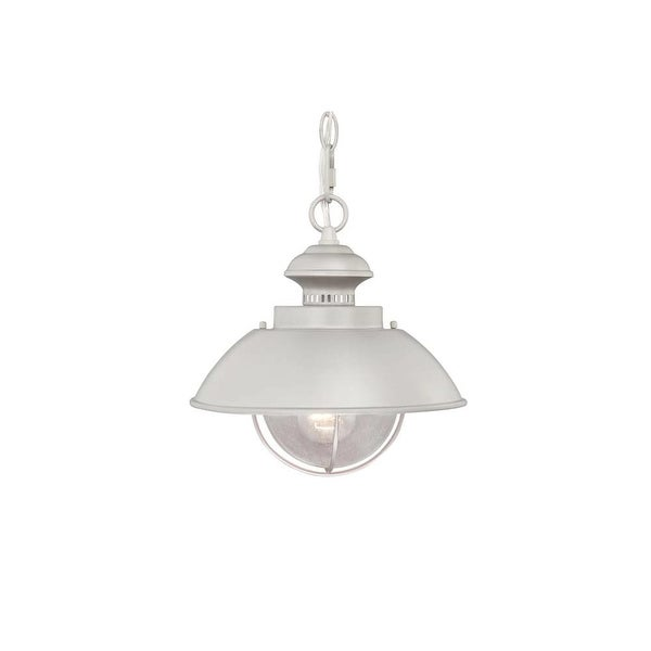 Vaxcel Lighting OD21518BN Harwich 1-Light Outdoor Pendant - Brushed nickel - n/a