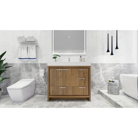 Dove Freestanding Vanity with Reinforced Acrylic Sink