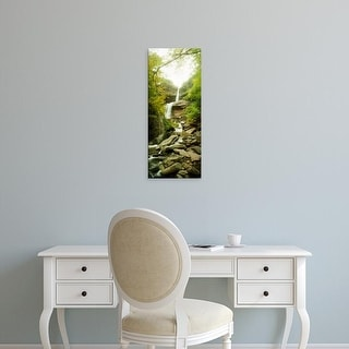 Easy Art Prints Panoramic Images's 'Kaaterskill Falls in autumn, New York State, USA' Premium Canvas Art