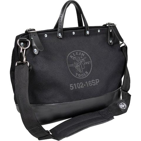 Klein tools deluxe black canvas bag 16