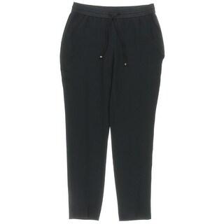 Jones New York Womens Petites Track Pants Tuxedo Stripe Drawstring - 4P