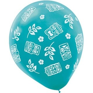 Amscan 110075 Assorted Tiki Balloons - Pack of 180