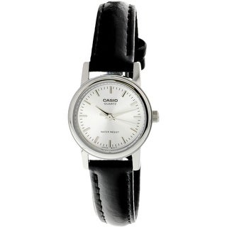 Casio Women's Core Silver Leather Quartz Fashion Watch