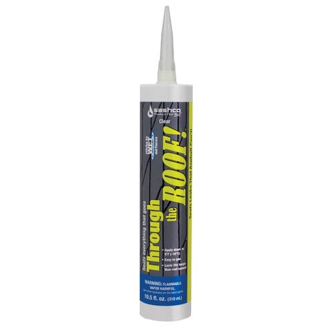 Sashco 14010 Through the Roof! Elastomeric Roof Sealant, 10.5 Oz, Clear