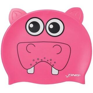 FINIS Youth Animal Head Swim Cap - Hippopotamus