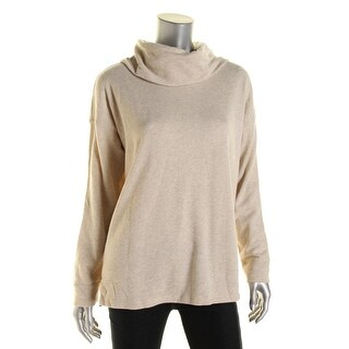 LRL Lauren Jeans Co. Womens French Terry Cowl Neck Sweatshirt - L