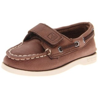 Sperry Boys A/O HL Boat Shoes Leather Casual - 6 medium (d) toddler
