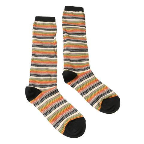 Missoni GM00CMD5218 0003 Green/Tan Striped Boot Socks