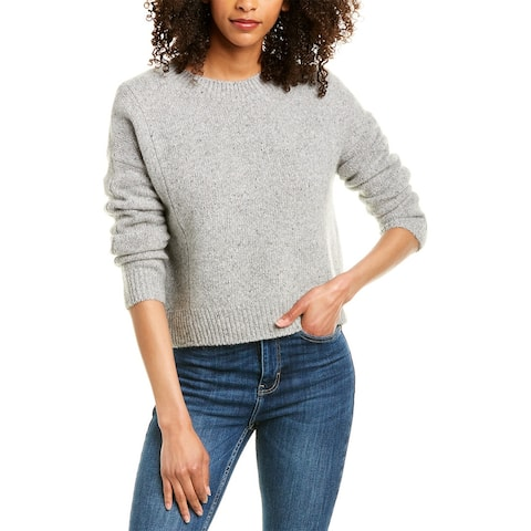 Vince Double Seam Cashmere Sweater - SOFT GREY