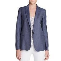 Equipment Blue Indigo Women's Size 10 One-Button Notched Blazer