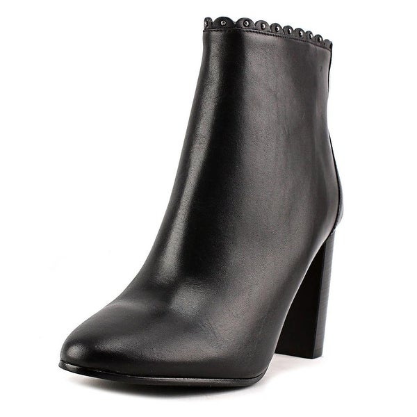 Coach Terence Women Round Toe Leather Black Bootie