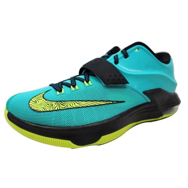 Nike Men's KD VII 7 Hyper Jade/Volt-Black-Photo Blue Uprising 653996-370 Size 12