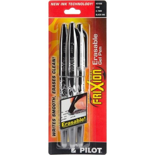 Pilot FriXion Ball Erasable Gel Pens 3/Pkg-Blk - Black