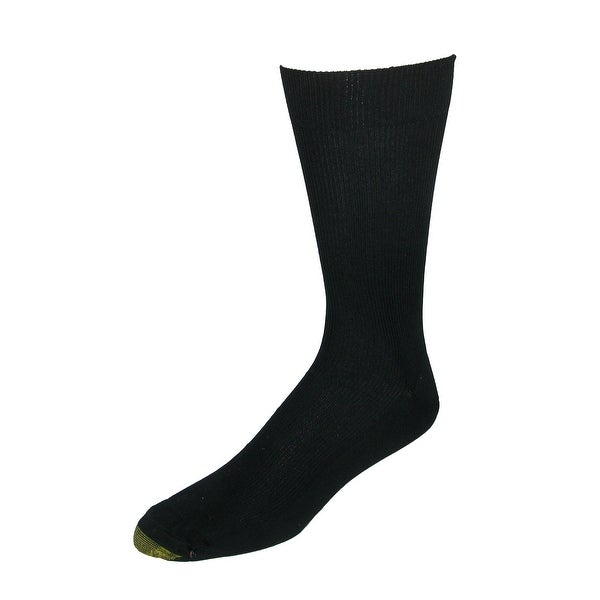 Gold Toe Men's Cotton Moisture Control Metropolitan Dress Socks (3 Pair Pack)