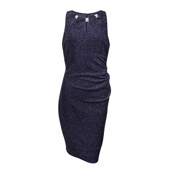 8cc5d99b Shop Betsy & Adam Women's Rhinestone Cutout Textured Sheath Dress (10,  Steel) - Steel - 10 - Free Shipping Today - Overstock - 17118443