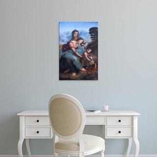 Easy Art Prints Leonardo da Vinci's 'The Virgin and Child with St. Anne' Premium Canvas Art