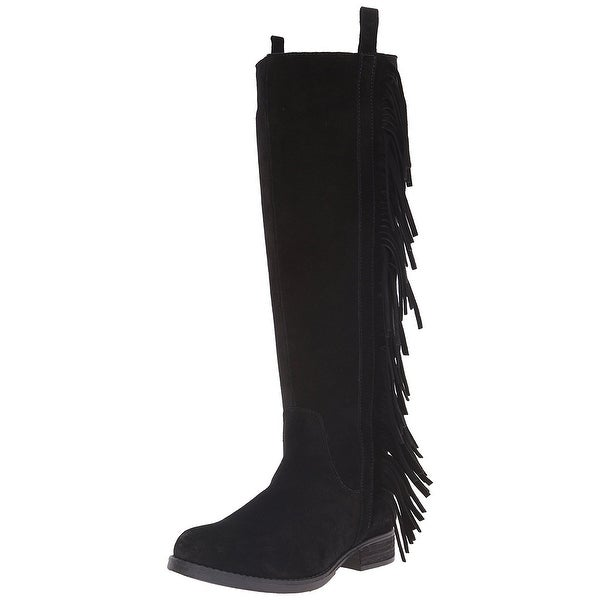STEVEN by Steve Madden Womens Daltton Suede Almond Toe Knee High Fashion Boots