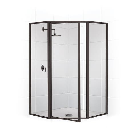 """Coastal Shower Doors NL17241770-C Legend Series 58"""" x 70"""" Framed Neo-Angle Swing Shower Door and Clear Glass -"""
