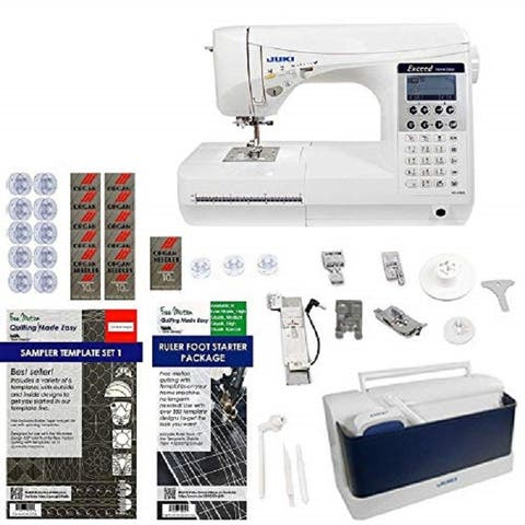Juki HZL-F300 Exceed Series - Full Sized 9 inch Throat Computer Sewing Quilting Machine w/ Limited time Quilters Package