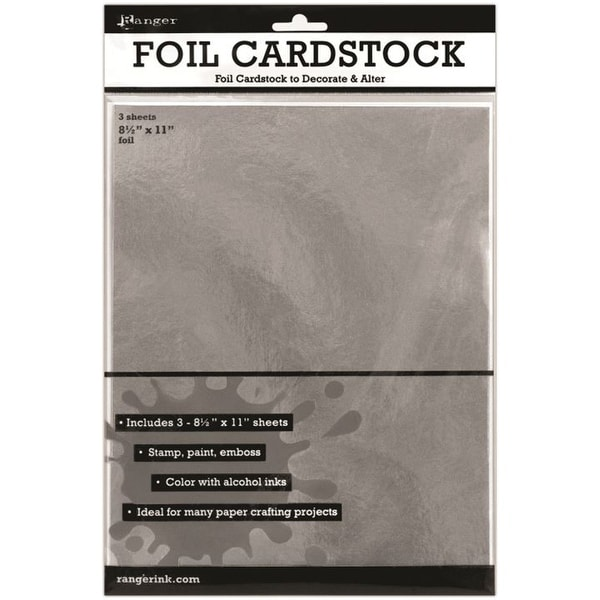 "Inkssentials Foil Cardstock 3/Pkg-Silver 8.5""X11"" - Silver"
