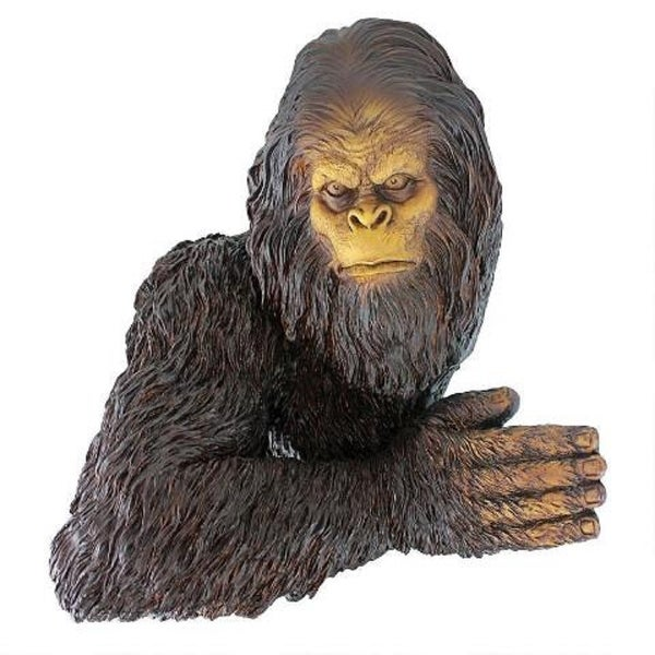 "15"" Bigfoot Yeti Hand Painted Outdoor Garden Tree Sculpture - N/A"