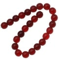 Czech Glass Druk Round Beads 8mm Ruby Red (25) - Thumbnail 0