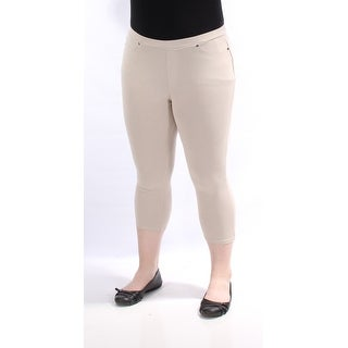 Womens Beige Casual Leggings Size XL
