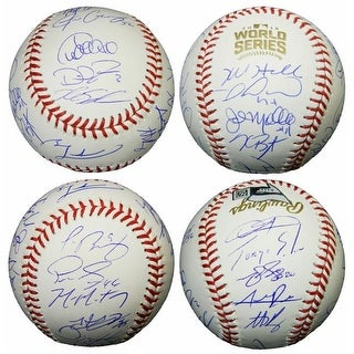 2016 Chicago Cubs Team Signed Rawlings Official 2016 World Series