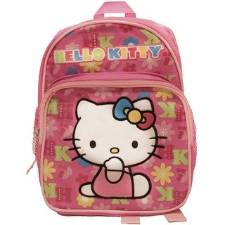 Hello Kitty Pink Lettered Toddler Backpack