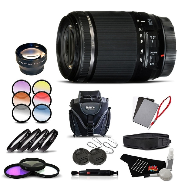 Tamron 18-200 f/3.5-6.3 Di II VC for Canon International Version (No Warranty) Advanced Kit - black