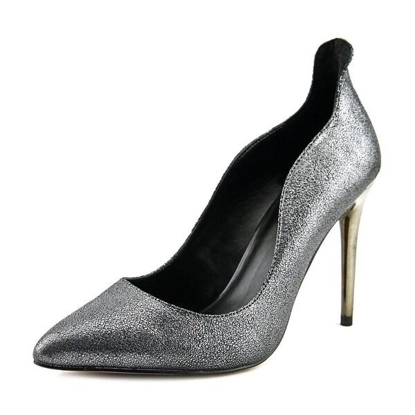 Aldo Ceglia Women Pointed Toe Leather Silver Heels