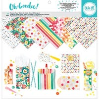 "We R Memory Keepers Glassine Paper Pack 12""X12"" 24/Pkg-Oh Goodie! Pattern, 6 Designs/4 Each"