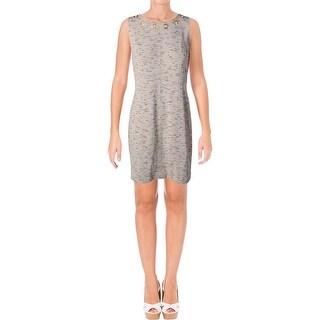 Kensie Womens Wear to Work Dress Marled Back Zip - M