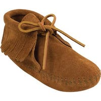 Minnetonka Children's Fringe Boot Softsole Brown Suede