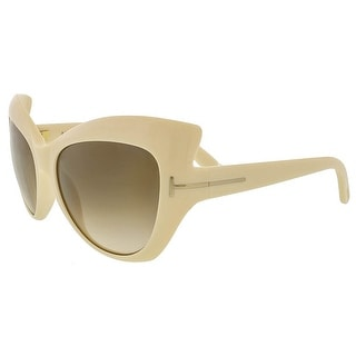 Tom Ford FT284/S 25F Bardot Ivory Full Rim Cateye Sunglasses