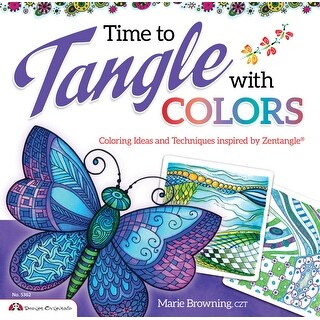 Design Originals Time to Tangle with Color Book