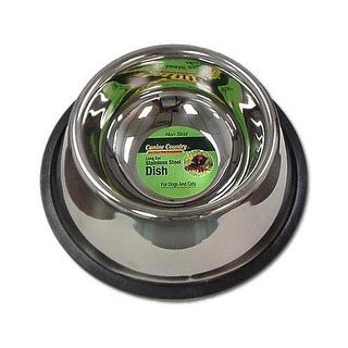 """PetEdge No-Tip Non-Skid Stainless Steel Bowl 24oz. 6"""" x 6"""" x 2"""""""