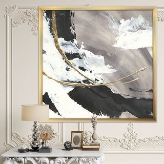 Link to Designart 'Glam Painted Arcs II' Transitional Framed Art Print Similar Items in Art Prints