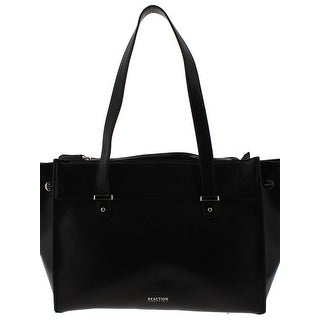 Kenneth Cole Reaction Womens Ashley Tote Handbag Faux Leather Signature - Medium