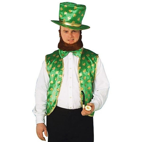St Patricks Day Leprechaun Costume Kit One Size Fits Most - Green