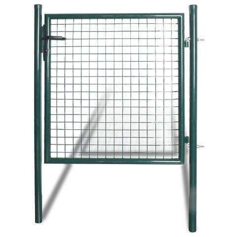 vidaXL Single Door Fence Gate Powder-Coated Steel