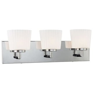 "Kovacs P5143 Bath Art 3 Light 20"" Wide Bathroom Vanity Light with Frosted Glass Shades - ADA Compliant"