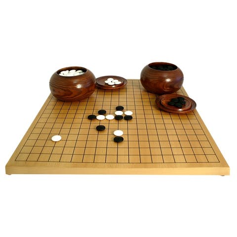 Go Game Set with 8mm Stones - 0.75 X 18.75 X 17.25 inches