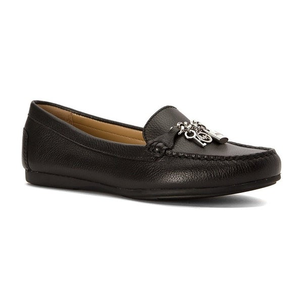 MICHAEL Michael Kors Womens Suki Moc Leather Closed Toe Loafers