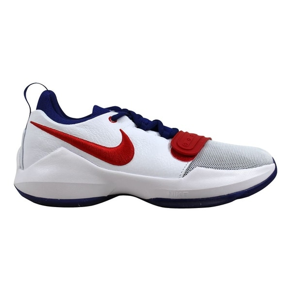 06f08e2932547 Nike PG 1 White University Red Paul George Grade-School 880304-164 Size.  Click to Zoom