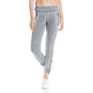 Kensie NEW Gray Women's Size Large L Ankle Zip Detail Pull On Pants