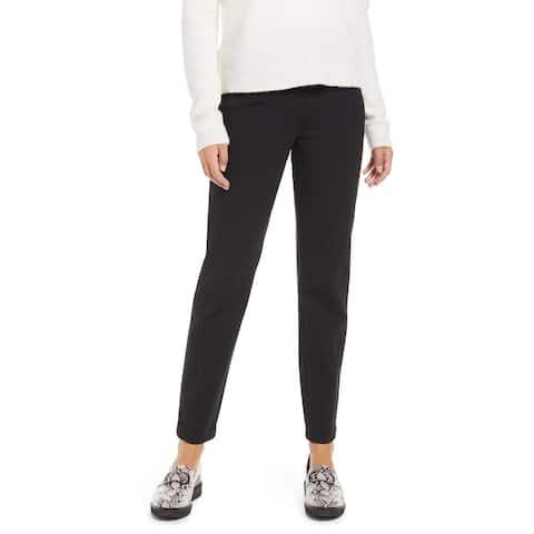 Spanx Women's Black Ponte Straight Leg Pull on Pants Classic Black