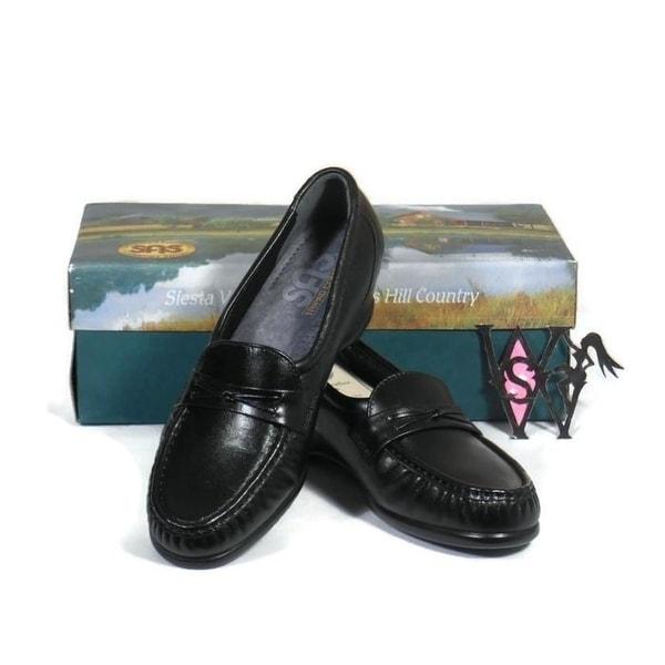 9cd307634d0 Shop SAS EASIER Slip On Leather Loafers Tri Pad Comfort Black 6 1 2 ...